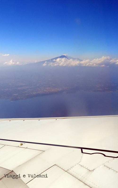 etna dal finestrino aereo